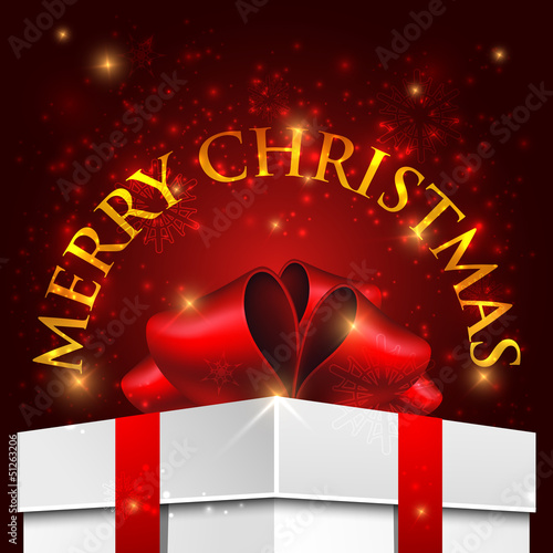 holiday Christmas background with gift box