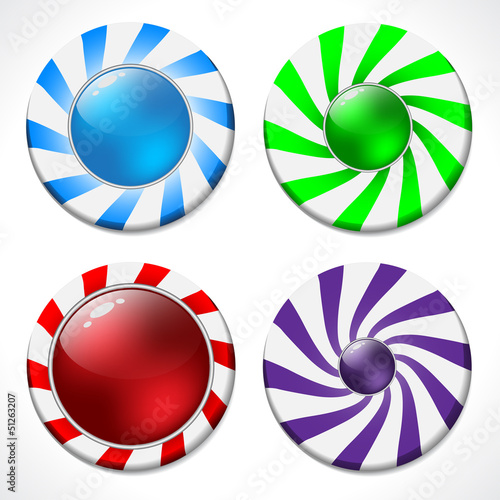 Swirling button design set