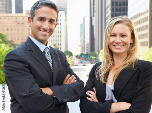 Portrait Of Two Business Colleagues Outside Office