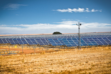 Solar photovoltaics panels field for renewable energy production