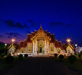 Wat Benchamabophit in Bangkok of Thailand