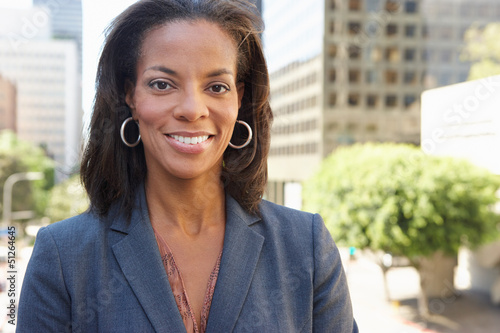 Portrait Of Businesswoman Outside Office