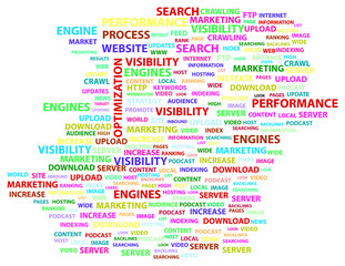 Search Engine Optimization Word Cloud Concept
