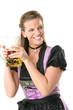 Frau mit Bierkrug