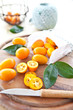 canvas print picture - Fresh organic kumquats