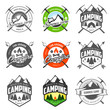 Set of vintage camping labels and badges - 51266038