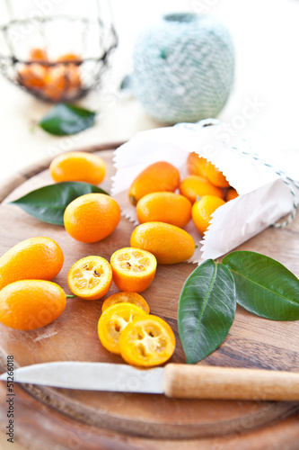 Fresh organic kumquats