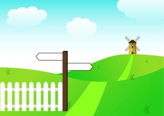 Paysage - Chemin du moulin à vent - Nature