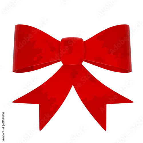 Red Abstract Gift Bow isolated on white