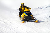 Fototapety motoslitta gialla