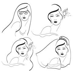 woman faces
