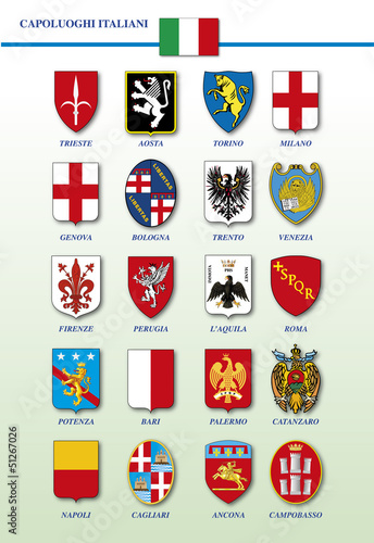 italian cities - coat of arms