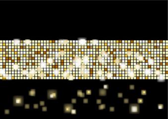Mur lumineux - or