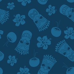 Seamless pattern of tiki