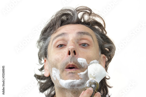 man with shaving brush