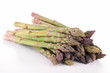 isolated raw asparagus