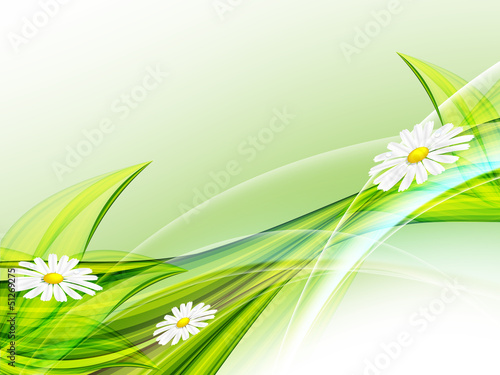floral abstract summer template