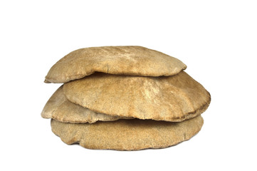 Pita Bread Isolated On White