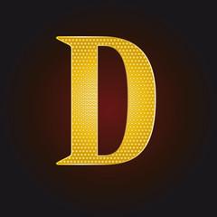 D vergoldet