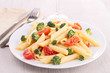 plate of pasta with vegetables