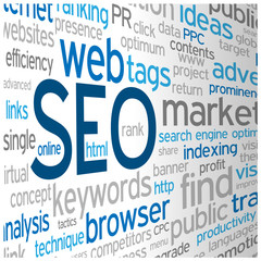 """""""SEO"""" Tag Cloud (search engine optimization indexing keywords)"""