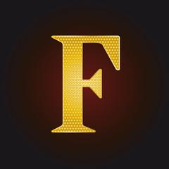 F vergoldet