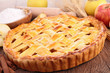cooked apple pie