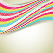 retro background with flowing stripes