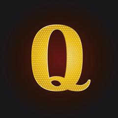 Q vergoldet