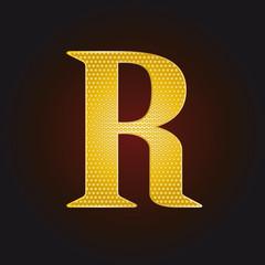 R vergoldet