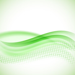 abstract modern halftone green background