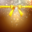 holiday background with yellow bow