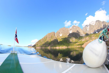 Sailing in Lofoten