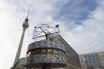 World clock TV Tower Berlin Alexanderplatz