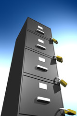 locked file cabinet (3D)