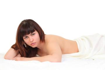 girl on a blanket