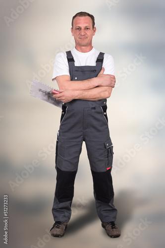 Handwerker mit Kelle