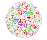 Abstract japanese letters