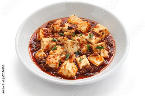 Leinwanddruck Bild sichuan mapo tofu, chinese food