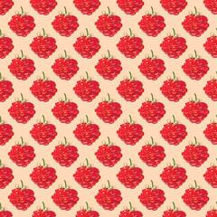 Raspberries-seamless pattern