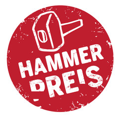 Hammerpreis Button