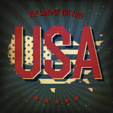The land of the free - USA. Vector, EPS10