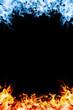 Leinwandbild Motiv Red and blue fire.