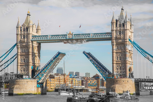 The Tower Bridge in London.