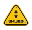 unplugged triangle signs