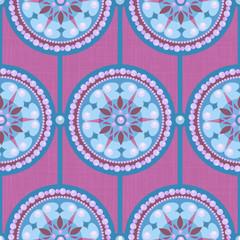 Pearl Circle Ornament Seamless Pattern