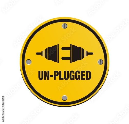 unplug circle signs