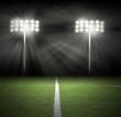 Stadium Game Night Lights on Black - 51276445