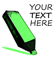 Highlighter with sample text
