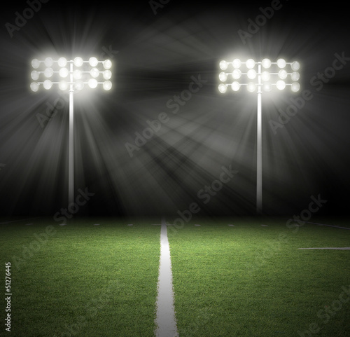 Stadium Game Night Lights on Black - 51276445
